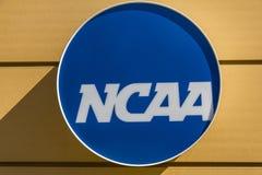 印第安纳波利斯-大约2017年3月:全美大学体育协会总部 NCAA调控学院竞技v 免版税库存照片