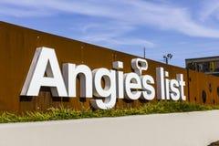 印第安纳波利斯-大约2016年11月:安吉尔` s名单公司办公室和总部v 库存图片