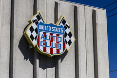 印第安纳波利斯-大约2016年9月:美国汽车俱乐部总部 USAC在美国认可许多汽车比赛我 免版税图库摄影