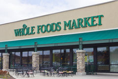 印第安纳波利斯-大约2016年4月:整个食物市场我