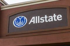 印第安纳波利斯-大约2016年10月:Allstate保险商标和标志我 免版税库存照片