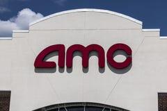 印第安纳波利斯-大约2017年8月:AMC电影院地点 AMC剧院是美国电影院链子VII 免版税库存照片