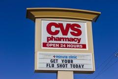 印第安纳波利斯-大约2016年9月:CVS药房零售地点 CVS是最大的药房链子在美国v 免版税库存图片