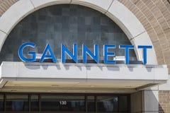 印第安纳波利斯-大约2017年4月:Gannett Company Indy星总部 Gannett Company拥有100个日报我 库存照片