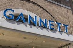 印第安纳波利斯-大约2017年4月:Gannett Company Indy星总部 Gannett Company拥有100个日报II 免版税库存图片