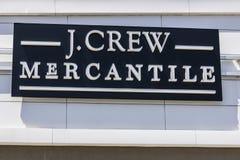 印第安纳波利斯-大约2017年6月:J 乘员组零售购物中心地点 同样商店销售下降了在JCrew我 免版税库存图片