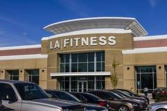 印第安纳波利斯-大约2016年11月:LA健身健身俱乐部 LA健身是一个私有的健康链子II 图库摄影