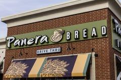 印第安纳波利斯-大约2016年12月:Panera面包零售地点 Panera是链子快速的偶然餐馆IV 库存照片
