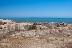 印第安纳湖岸沙丘国民 库存照片