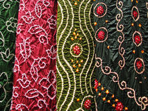 印第安纺织品,特写镜头 免版税图库摄影