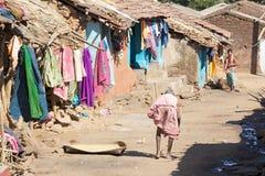 印第安老部族村庄妇女 免版税库存图片