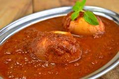 印第安膳食用蛋咖喱 库存照片