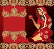 印第安茶妇女 库存照片