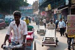 印第安街道贸易商 库存图片