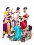 印第安语古典的舞蹈演员 库存照片