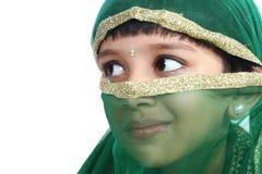 印第安语可爱的女孩一点 库存照片