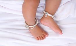 印第安语婴孩的英尺 免版税图库摄影