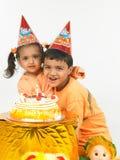 印第安语生日的子项 免版税库存照片
