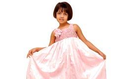 印第安语的女孩矮小可爱的portarit 免版税库存照片