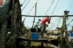 印第安语的渔夫 免版税库存图片