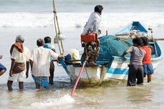 印第安语的渔夫 图库摄影
