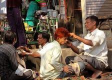 印第安语的理发师 免版税库存图片