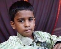 印第安语的男孩一点 免版税库存照片