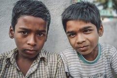 印第安语的男孩 免版税库存图片