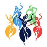 印第安语的舞蹈演员 也corel凹道例证向量 向量例证