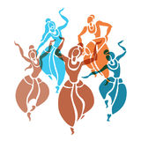 印第安语的舞蹈演员 也corel凹道例证向量 皇族释放例证