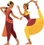 印第安语的舞蹈演员 向量例证