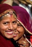 印第安语美丽的女孩 图库摄影