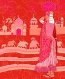 印第安语装饰的大象 库存例证