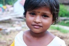 印第安语逗人喜爱的女孩一点 免版税图库摄影