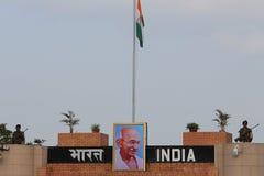 印第安语-巴基斯坦边界 免版税图库摄影