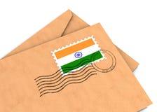 印第安过帐 库存例证