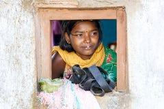 印第安部族妇女年轻人 免版税库存图片