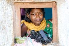印第安部族妇女年轻人 库存照片