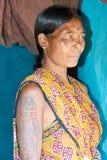印第安部族妇女 免版税库存照片