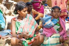 印第安部族妇女 免版税图库摄影