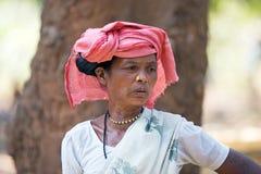 印第安部族妇女 图库摄影