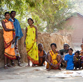 印第安部族村庄妇女 免版税库存图片