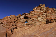 印第安镇废墟wupatki 库存图片
