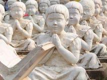 印第安雕塑学员 免版税库存照片