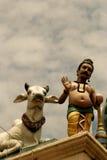 印第安雕象寺庙 库存照片