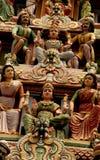 印第安雕象寺庙 库存图片