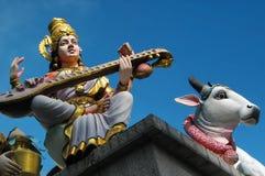 印第安雕象寺庙 免版税库存照片