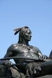 印第安雕象 免版税图库摄影