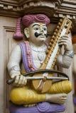 印第安音乐家雕塑 免版税图库摄影