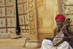 印第安音乐家 免版税图库摄影